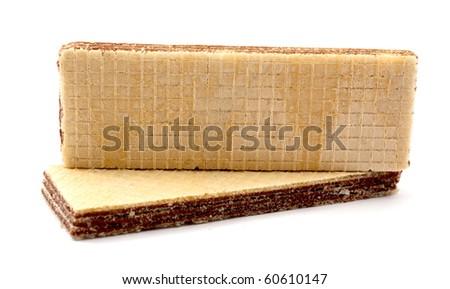 waffles on a white background - stock photo