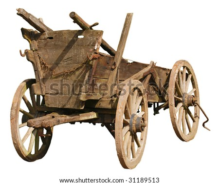 Wagon isolated on white - stock photo