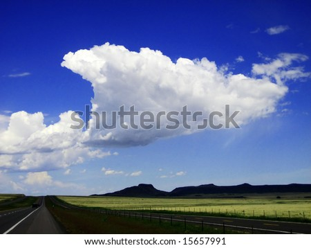 "Wagon Mound Cloud was captured in the skies near ""Wagon Mound"" New Mexico."