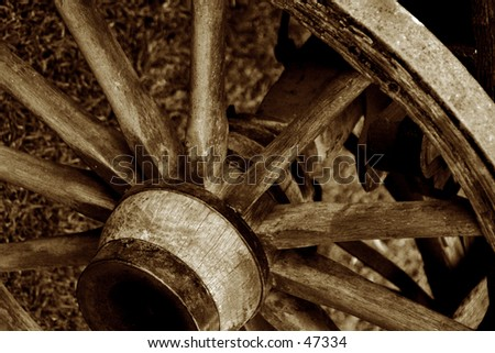 Wagon Wheel - stock photo