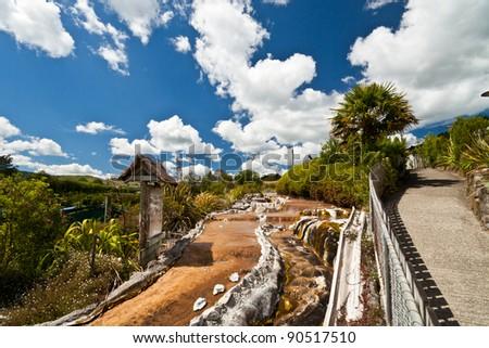 Wai-O-Tapu, Rotorua, North Island, New Zealand. - stock photo