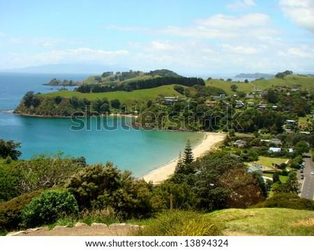 waiheke island urban, Auckland, New Zealand - stock photo