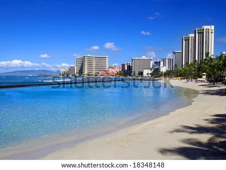 Waikiki Beach - stock photo