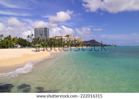 Waikiki Beach, Honolulu, Hawaii  - stock photo