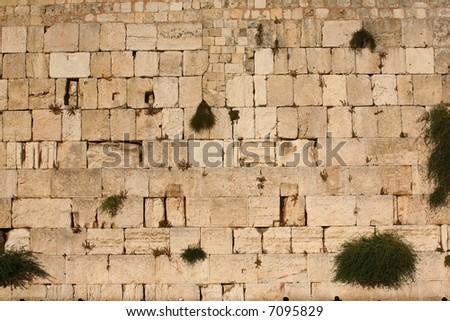 Wailing wall Jerusalem - stock photo