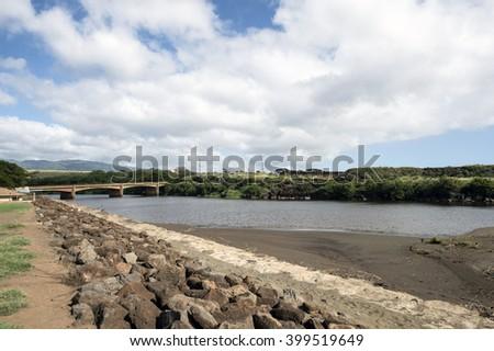 Waimea River, Kauai, Hawaii - stock photo