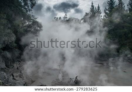 Waiotapu Thermal Wonderland, New Zealand - stock photo