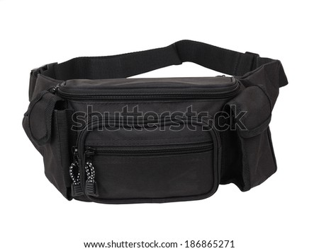 waist pouch isolated on white background.  - stock photo