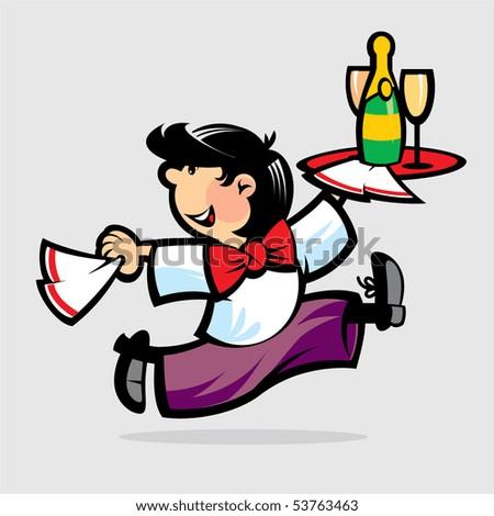 Waiter - stock photo