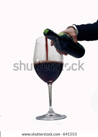 waiter pouring Red Wine,- very soft focus
