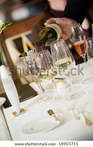 waiter serving - stock photo