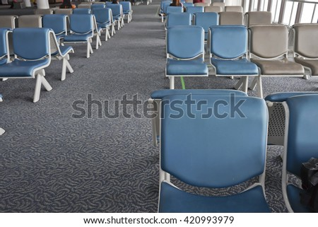 Waiting Area and Empty chair.