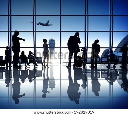 Waiting at the Airport - stock photo
