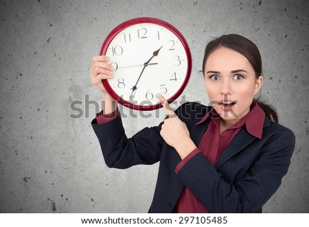 Waiting, Clock, Women.