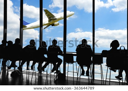 Waiting for departure - stock photo