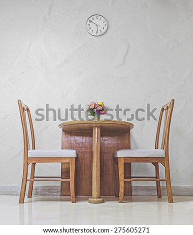 waiting for dinner in the dining room - stock photo