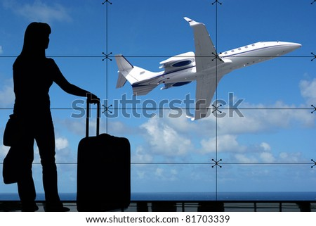 Waiting for the flight - stock photo