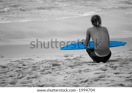 Waiting for the surf - stock photo