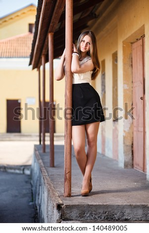 Waiting girl. - stock photo