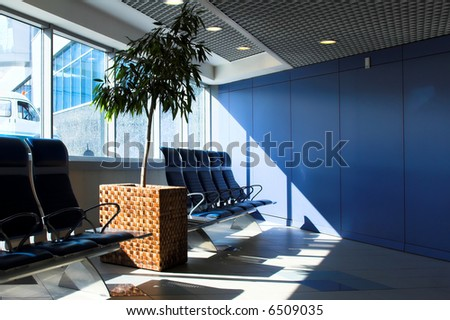 waiting lounge in an airport for businesst, Domodedovo, Moscow, Russia - stock photo