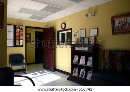 Waiting room. - stock photo