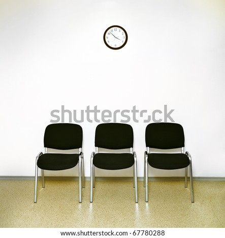 waiting room - stock photo