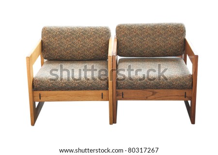 Waiting room chairs - stock photo