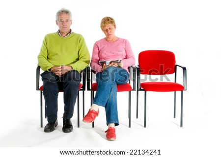 waiting room hospital or dentist or doctor - stock photo