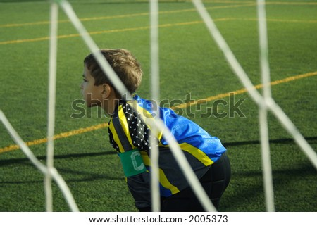Waiting the ball with attention - stock photo