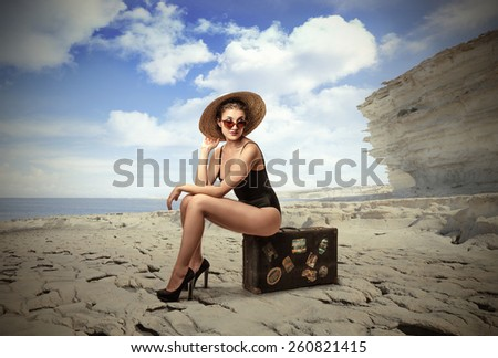 Waiting to go away  - stock photo