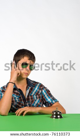Waiting youngster getting upset, a concept for impatience - stock photo