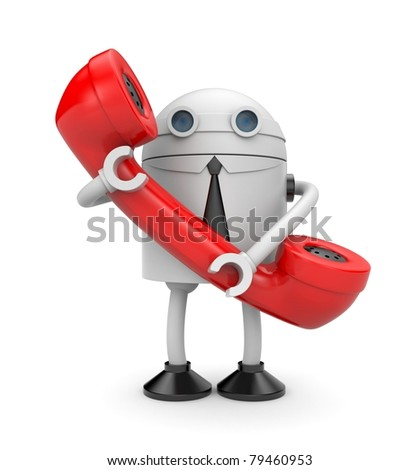 Waiting your calls - stock photo