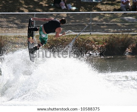 Wakeboarding - Melbourne Waterfest - stock photo