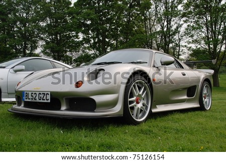 WAKEFIELD, ENGLAND - MAY 10: Silver Noble M12 on Display at the Annual Rising Sun Car Show on May 10, 2008 in Wakefield, England, UK.  Norton Priory is host to the show