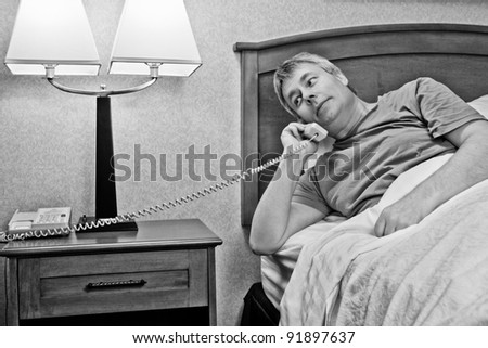 Wakeup Call or Room Service - stock photo