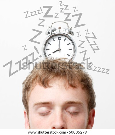 Waking up on a monday morning - stock photo