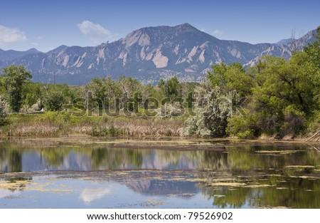 Walden Pond In Boulder Colorado - stock photo