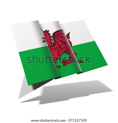 Wales flag 3D banner - stock photo