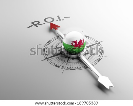 Wales High Resolution ROI Concept - stock photo