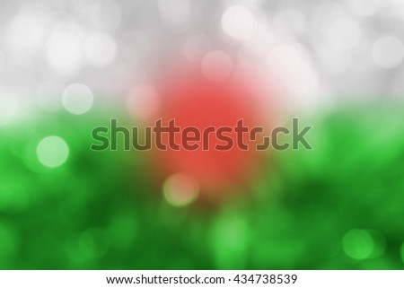 WALES : National flag. Soft blurred bokeh natural background. Abstract gradient desktop wallpaper. - stock photo