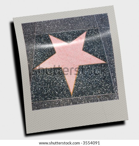 Walk of fame star - stock photo