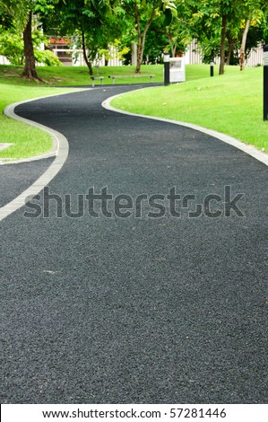 Walk path in park - stock photo