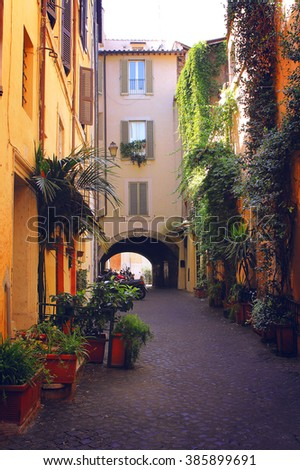 Walk through the old town, a lovely patio