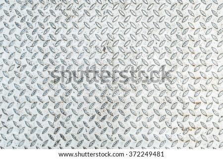 Walk Way steel diamond plate texture - stock photo