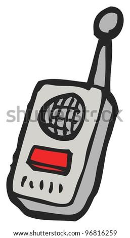 Single-A Walkie Talkie Clip Art