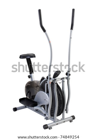Walking and cycling gyms tool isolated on white