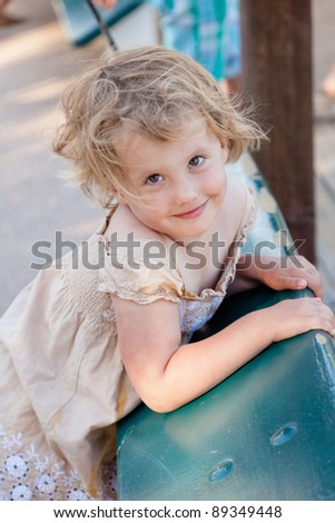 Walking around and playing in the park. - stock photo