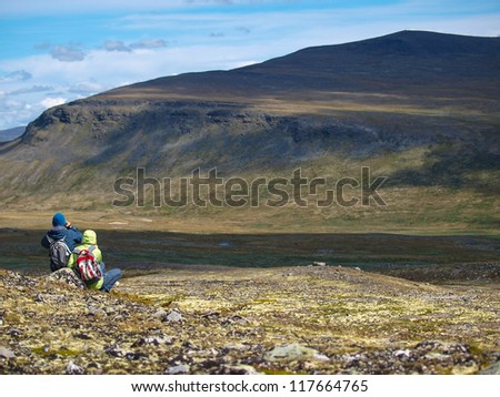 walking in Dovrefjell National Park, Norway