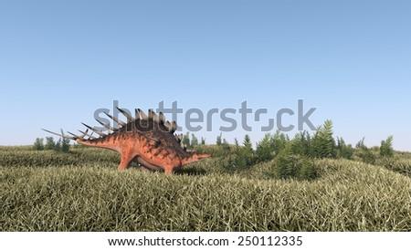 walking kenrosaurus - stock photo