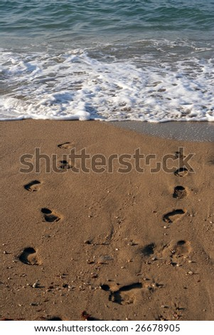 Walking on a meeting to a dawn. - stock photo